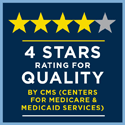 CMS rating 2019: 4 stars rating for quality