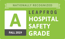 Award: Nationally recognized Leapfrog Hospital Safety Grade A for Fall 2019
