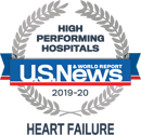 Award: US News & World Report 2019-20 High Performing Hospitals: Heart Failure