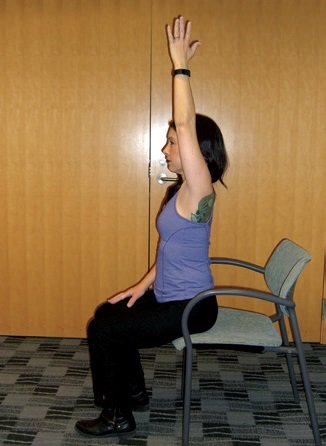 yoga chair raised hands