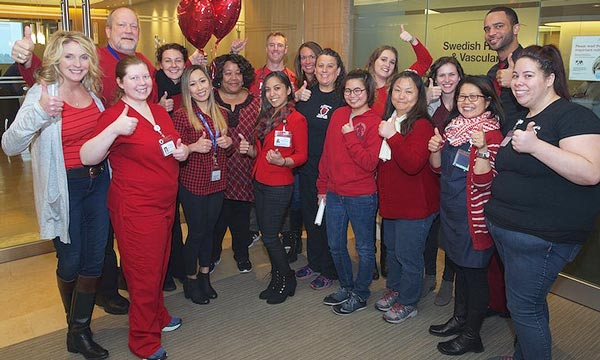 Swedish caregivers and providers in all of our Seattle, WA area cardiac clinics wore red to raise awareness that heart disease is the leading cause of death for men and women.